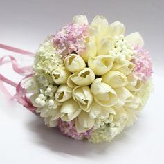 Doux Ruban/Soie artificielle Bouquets de mariée -
