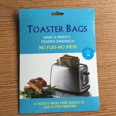 Modern Classic Non Stick Reusable Toaster Bags for Sandwich and Grilling (Set of 2) Non-personalized Gifts