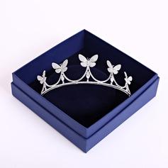 Señoras Elegante Circón Tiaras (Se venden en una sola pieza)