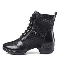 De mujer Piel Malla Botas Estilo Moderno botas de danza Zapatos de danza