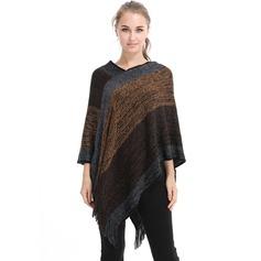 Retro /Wijnoogst/Hechten te groot/mode Kunstmatige Wool Poncho