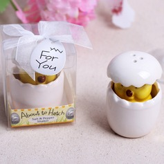 Cute Animal Ceramic Salt & Pepper Shakers With Ribbons (Set of 20)