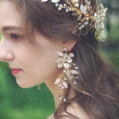 Sonar Naisten Kaunis Metalliseos Tekojalokivi/Helmet/Valetaskua helmi Korvakoruja Hänen/Ystävät/Bride/Morsiusneito/Häntä Varten