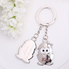 Personalized Penguin Baby Stainless Steel Keychains (Set of 6 Pairs)