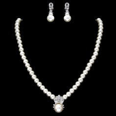Elegant Pearl With Rhinestone Ladies' Jewelry Sets