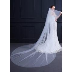 Two-tier Cut Edge Chapel Bridal Veils (006168554)