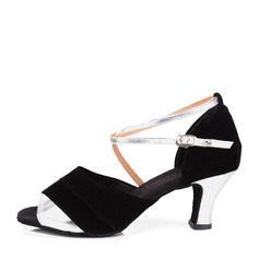 Femmes Similicuir Suède Talons Latin Chaussures de danse
