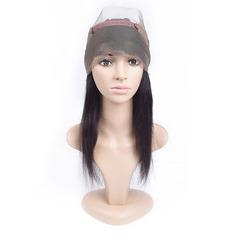 360 Frontal 4A Tout droit les cheveux humains Fermeture (Vendu en une seule pièce)
