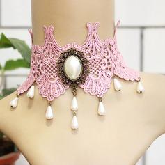 Hermoso Aleación La perla de faux Encaje con Perlas de imitación Encaje Señoras' Collar de la manera