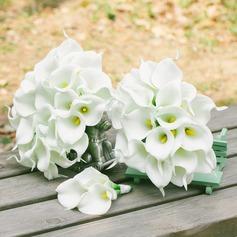 Doce Forma livre PE Conjuntos de flores - Alfinete de lapela/Buquês de noiva/Buquês da nama de honra