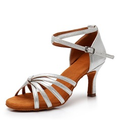 Women's Leatherette Heels Latin Swing Dance Shoes