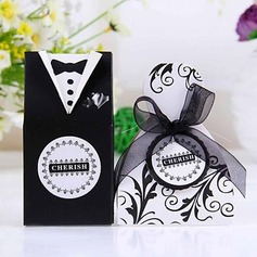 Bride & Groom Favor Boxes With Ribbons (Set of 12)