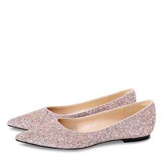 Kvinnor Glittrande Glitter Flat Heel Stängt Toe Platta Skor / Fritidsskor (047190334)