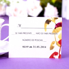 Personlig Blad mallen Pärla Papper Svarskort (Sats om 50)