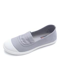 De mujer Lona Tacón plano Planos Cerrados zapatos