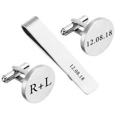 Gemelos Tie de Clip Estilo clásico Aleación Personalizado Regalos