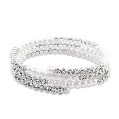 Charmen Legering/Platina med Kristall Damer' Armband