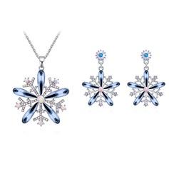 En forma de flor Aleación/Crystal con Crystal Señoras' Sistemas de la joyería