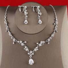 Gorgeous Alloy/Zircon Ladies' Jewelry Sets