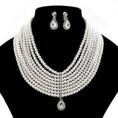 Magnifique Pearl avec Strass Dames Parures