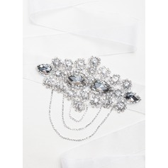 Stylish Ribbon Sash With Crystal/Rhinestones (015065499)