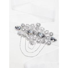 Elegante Fita Cintos com Cristal/Strass