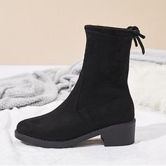 Femmes Suède Talon bas Bottes Bottes mi-mollets chaussures
