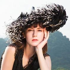 Dames Simple/Style Vintage/Artistique Batiste avec Feather Chapeaux de type fascinator
