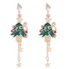 Shining Alloy Czech Stones Fashion Earrings