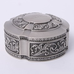 Personalized Round Zinc Alloy Jewelry Holders