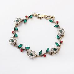 Fleurs romantiques Assortiment avec Strass Dames Bracelets