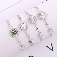 stjärna formad Legering Kristall med Oäkta Kristall Mode Armband (Säljs i ett enda stycke)