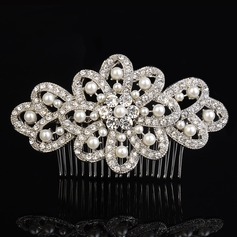 Ladies Elegant Rhinestone/Alloy/Imitation Pearls Combs & Barrettes