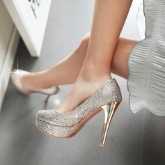 Women's Leatherette Stiletto Heel Closed Toe With Sequin