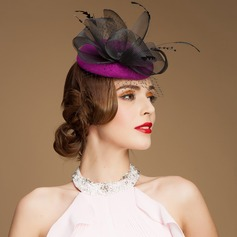 Ladies ' Gorgeous Uld/Netto garn med Imiteret Pearl Fascinators (196075279)