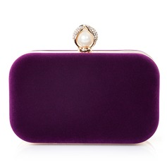 Attractive Velvet/Imitation Pearl Clutches