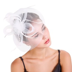 Ladies' Beautiful Feather/Net Yarn With Feather Fascinators/Tea Party Hats (196154627)
