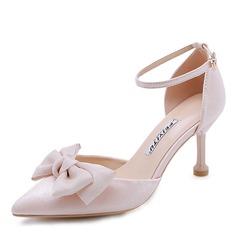 Mulheres Cetim Salto agulha Bombas sapatos
