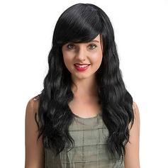 4A Ej remy Vågig Mänskligt hår Capless peruker