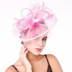 Damen Nizza Feder/Net Garn mit Feder Kopfschmuck