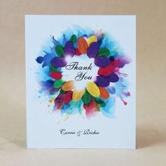Personalizado Diseño Floral papel tarjeta duro Gracias las Tarjetas (Juego de 50)