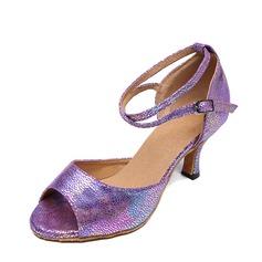 De mujer Cuero Danza latina Zapatos de danza