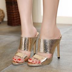 De mujer Cuero Tacón stilettos Sandalias Encaje Solo correa zapatos