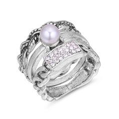Mode Strass Fauxen Pärla koppar Damer' Mode Ringar