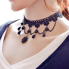 Mode Fauxen Pärla Spets Damer' Mode Halsband
