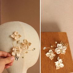 Beautiful Alloy/Silk Flower Combs & Barrettes