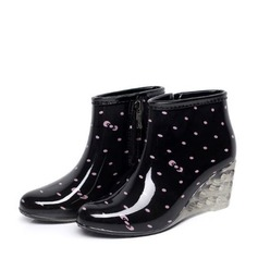 Women's PVC Wedge Heel Wedges Boots Rain Boots shoes (088146822)