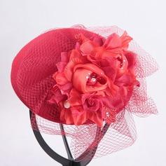 Señoras' Hermoso/Estilo clásico Madera con Flores de seda Tocados