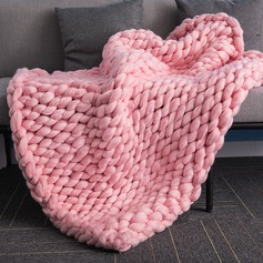 Vintage Simple Acrylic Thick Yarn Chunky Knit Blanket (Sold in a single)