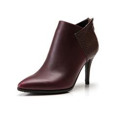 De mujer Cuero Tacón stilettos Plataforma Botas al tobillo con Material Block zapatos